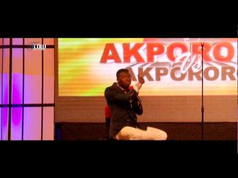 Hilarious!!! Akpororo make fun of AY comedian on stage.