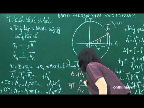 Chương I-Bài 11-Tổng hợp DĐĐH cùng phương, cùng tần số bằng phương pháp vector quay