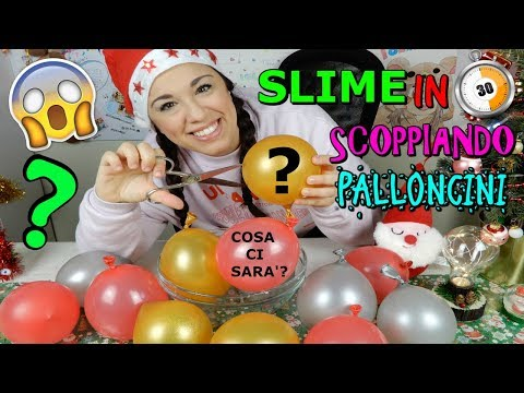 SLIME SCOPPIANDO PALLONCINI IN 30 SECONDI DI NATALE! (POPPING BALLOON SLIME) Iolanda Sweets