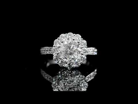 CGL Certified 2.09ct Round Brilliant Cut Diamond Ring
