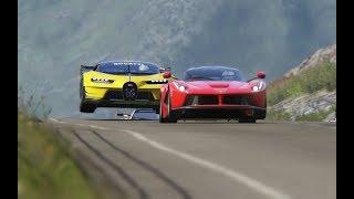 Video Bugatti Vision GT vs Super Cars at Highlands MP3, 3GP, MP4, WEBM, AVI, FLV Maret 2019