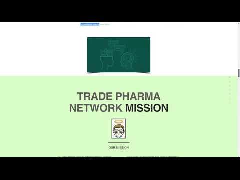 Trade Pharma Network: Innovative technologies for help pharma proffesionals & organizations