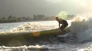 Josh Kerr and Family Wakesurfing