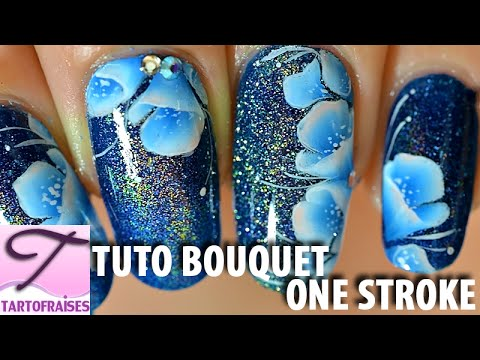 nail art - bouquet floreale