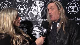 Krishta Abruzzini's red carpet interview with Nicko McBrain of Iron Maiden!