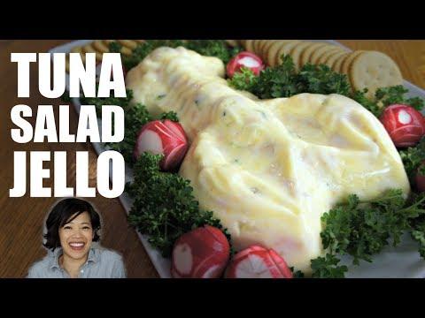 TUNA Salad JELLO in a Lobster Mold | Retro Recipe Test (видео)