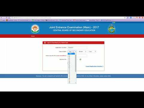 Download JEE MAIN 2018 Admit Card
