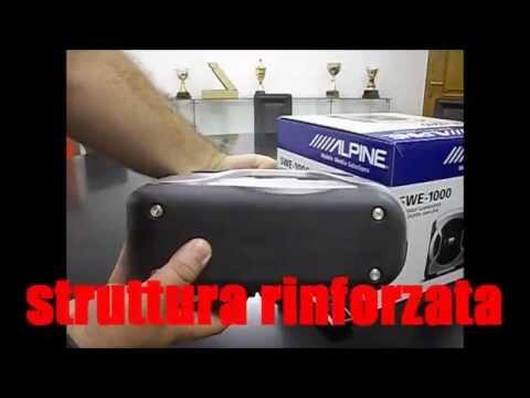 Subwoofer amplificato Alpine SWE-1000 (presentazione)