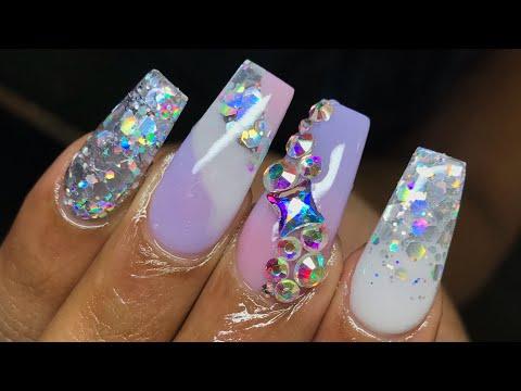 Acrylic nails - Acrylic nail tutorial  Pastel ombre nails