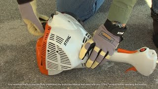 3. STIHL FS 50 C-E Trimmer - How to Start
