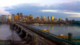 Sunset Time-Lapse Over Longfellow Bridge - Jan 20, 2015