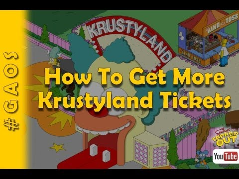 how to get more krustyland tickets cheats