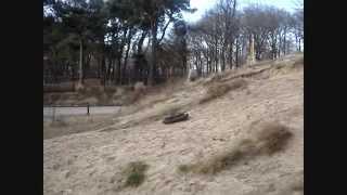 Hill Climbing RC Tamiya Leopard 2A6. René De Groot's Tank!