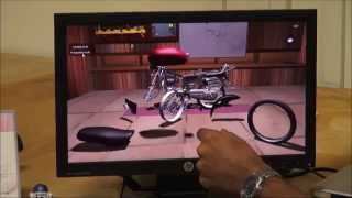 Interactive Motorcycle Assembly in Unity3D using the Leap motion sensor
