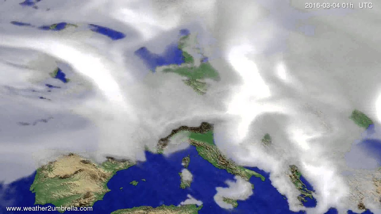 Cloud forecast Europe 2016-03-01