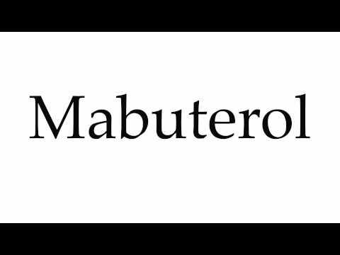 How to Pronounce Mabuterol