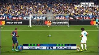 PES 2018 | PSG vs Real Madrid | UEFA Champions League (UCL) | Penalty Shootout