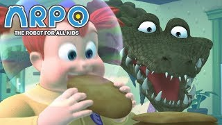 Video ARPO The Robot For All Kids - hungry Crocodile | Compilation | Cartoon for Kids MP3, 3GP, MP4, WEBM, AVI, FLV Maret 2019
