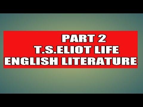 T.S.Eliot Life ugc net 