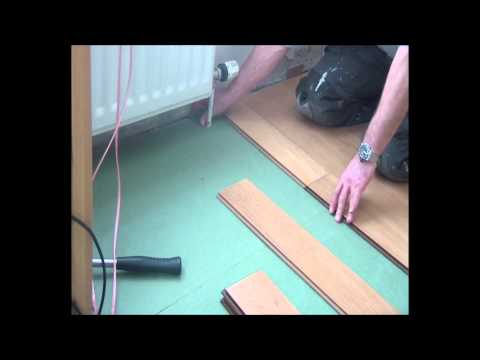 Part 3 Complete Click Floor Installation. Fitting around radiator pipes