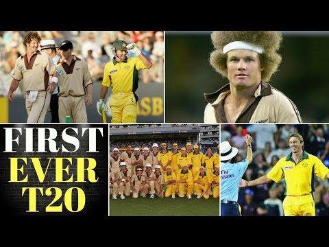 First ever T20 International match 2005|Australia Vs NewZland highlights|Under arm bowl by McGrath|