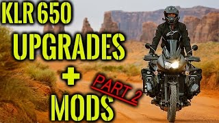 KAWASAKI KLR 650 UPGRADES AND MODS [Part 2]