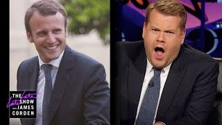 Video James Corden Has Eyes for France's Emmanuel Macron MP3, 3GP, MP4, WEBM, AVI, FLV Juni 2017