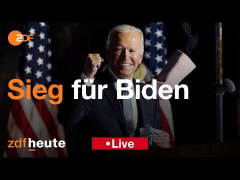 """ZDF spezial: """"Sieg für Biden – Entscheidung in den USA"""""""