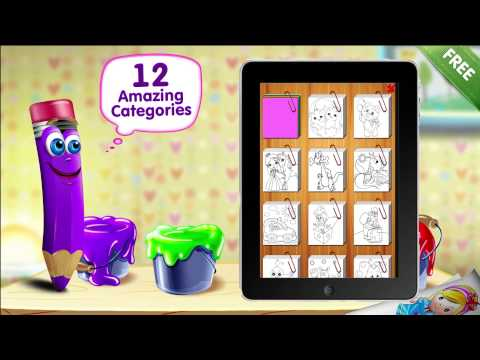 Video of Paint Sparkles Coloring Book
