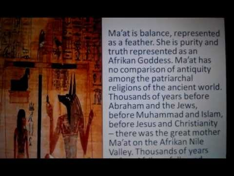 Why Follow Slave Religions, Your Ancestors Gave Ma'at to the World?
