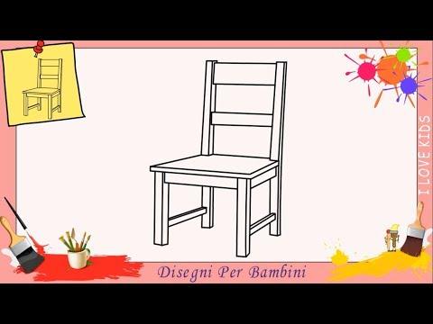 Come disegnare una sedia FACILE passo per passo per bambini 3