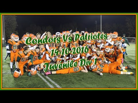 Football Saint-Jean Eudes Juvénile 2016 : Patriotes RC Vs Condors de SJE 14-10-2016