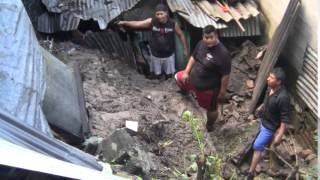 Daños por lluvia en viviendas de Ciudad Delgado