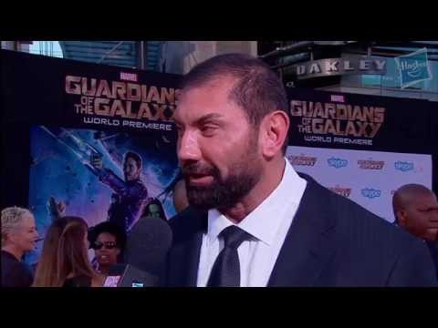 Red Carpet - Dave Bautista talks about what it means to him to play Drax at Marvel's