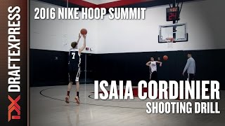 Isaia Cordinier Shooting 10 Threes - DraftExpress - 2016 Nike Hoop Summit