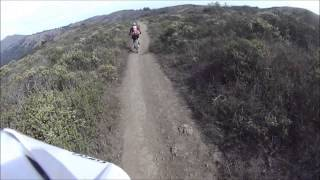 Coastal trail to Muir Beach up Diaz and over to Miwok.