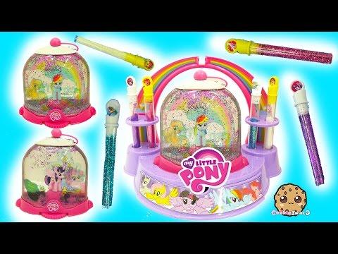 My Little Pony Rainbow Dash , Twilight Glitter Water Globe Maker MLP Playset