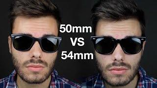 Ray-Ban Wayfarer 50mm vs 54mm