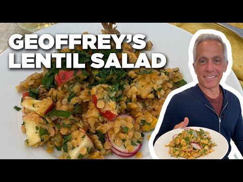 Geoffrey Zakarian's Lentil Salad with Mushrooms and Apples | The Kitchen | Food Network