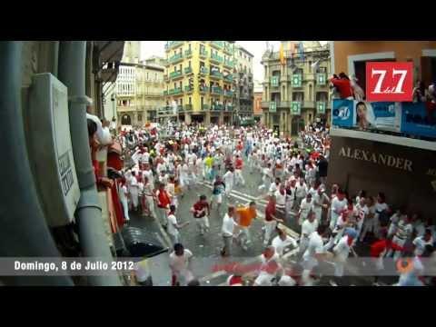 Encierro del 8 de Julio de 2012 en Pamplona