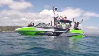 People enjoy and try the Mantap Board + the Moomba Craz - Day 1 to Mandelieu East south in France