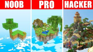 Minecraft NOOB vs. PRO vs. HACKER : SKYBLOCK SURVIVAL CHALLENGE in Minecraft!