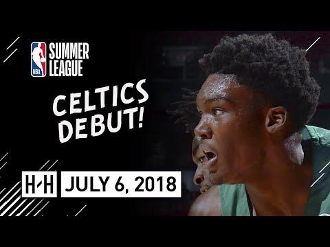 Robert Williams Full Celtics Debut Highlights vs 76ers (2018.07.06) Summer League - 4 Pts, 2 Reb