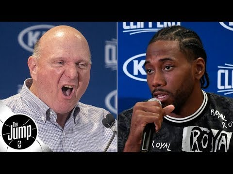 Video: Kawhi Leonard told Steve Ballmer 'if you don't change your team, I'm not coming' - report | The Jump