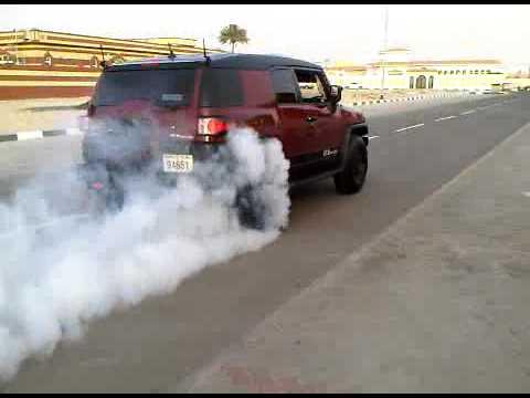 درفت السعودية اف جي ريس بريك  - Saudi Drift Toyota FJ Burnout