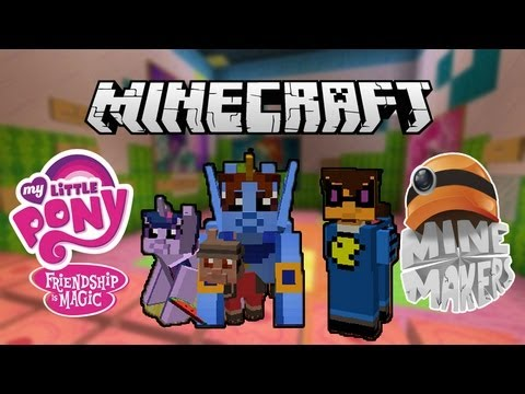 Игра в стиле пони minecraft mini game my little pony