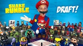 Video Wolverine, Thanos & Mario! Super Hero Shake Rumble Draft for Kids! MP3, 3GP, MP4, WEBM, AVI, FLV Juni 2018