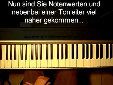 Klavier lernen: Videoauszug zu Band I, Notenwerte trainieren und erspüren
