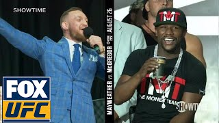Video Conor McGregor on Floyd Mayweather wearing a schoolbag 'You can't even read' | TOR | UFC ON FOX MP3, 3GP, MP4, WEBM, AVI, FLV Juni 2019