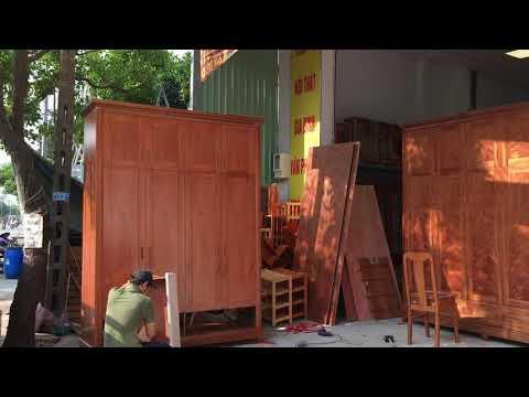 Tổng hợp mẫu tủ quần áo gỗ Xoan Đào siêu to tại ĐỒ GỖ CƯỜNG NGA